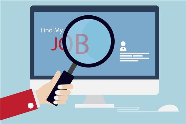 job search vector image