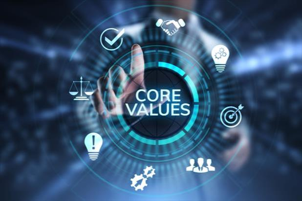 pointing to core values