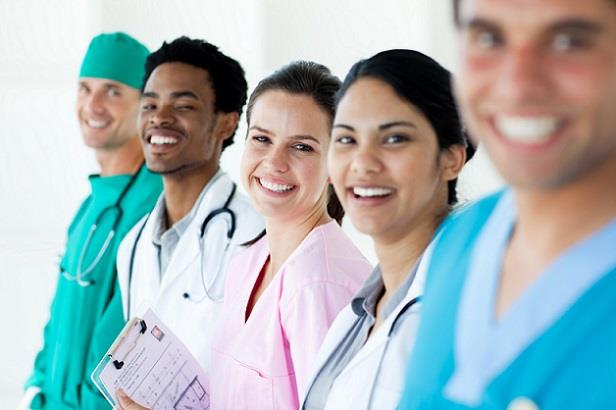 Group of nurse practitioners smiling for the camera