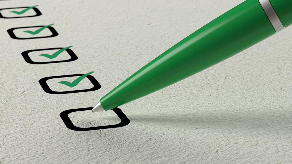 Nearly complete preparation checklist