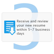 Step 3: Receive ad review your new resume within 3-5 business days