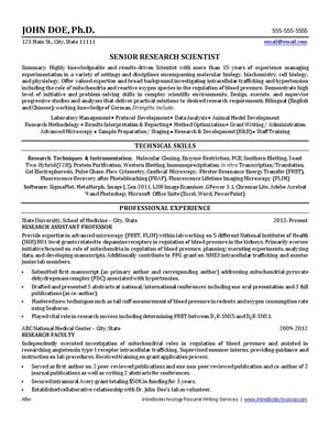 IHireBiotechnology  Resume Key Phrases