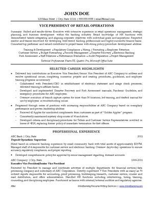 Banking resume writing service