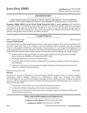 dental resume writing service ihiredental