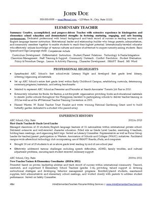 Resume writing service for teachers washington
