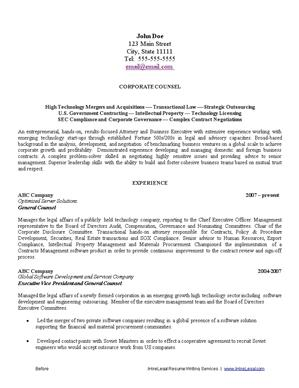 before - Resume Writing Sample