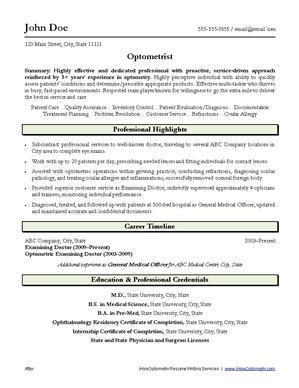 optometry resume writing service ihireoptometry
