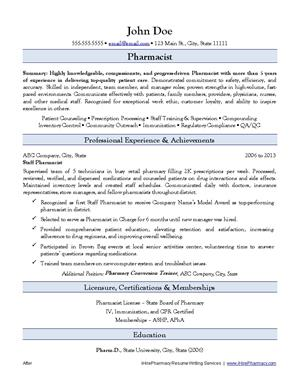 Retail Pharmacist Resume retail pharmacist resume After