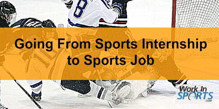 sports internship to sports job