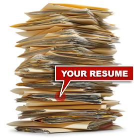 unemployed big stack of resumes