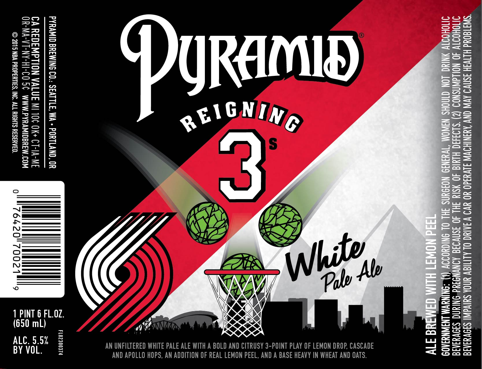 moda center limited edition reigning 3's beer