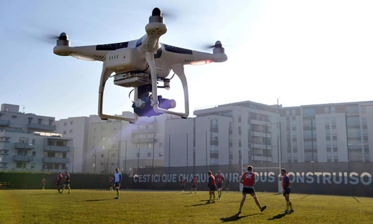 drones in sports broadcasting