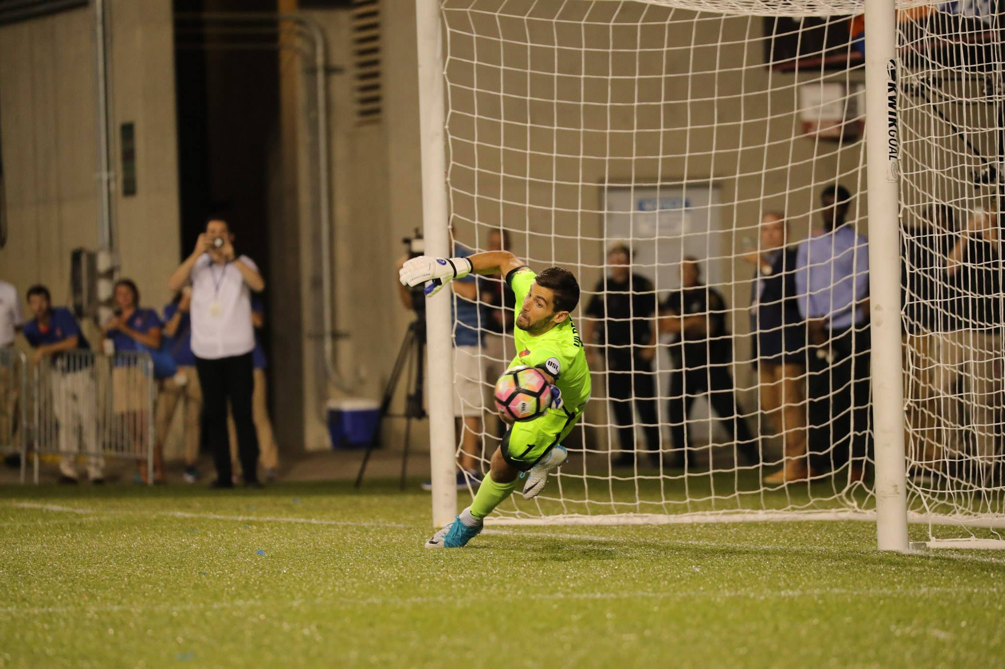 FC Cincinnati goalkeeper Mitch Hildebrand