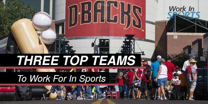 three top teams to work for in sports