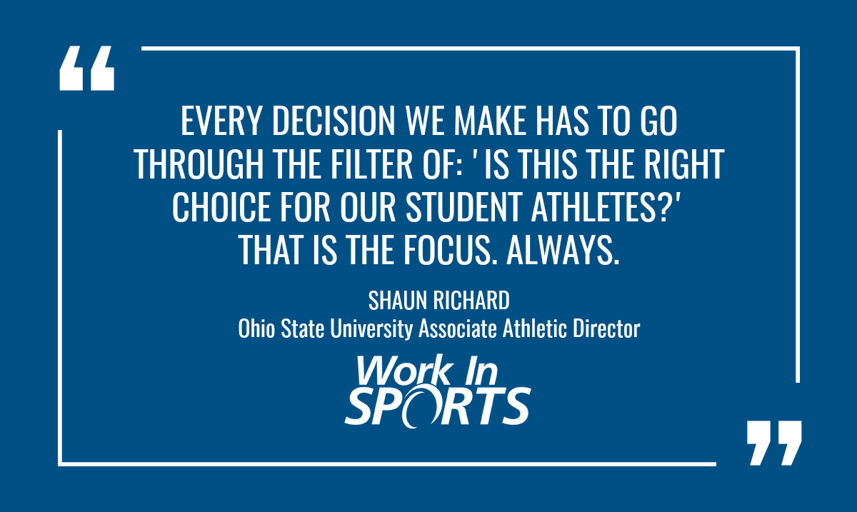 working in college sports quote
