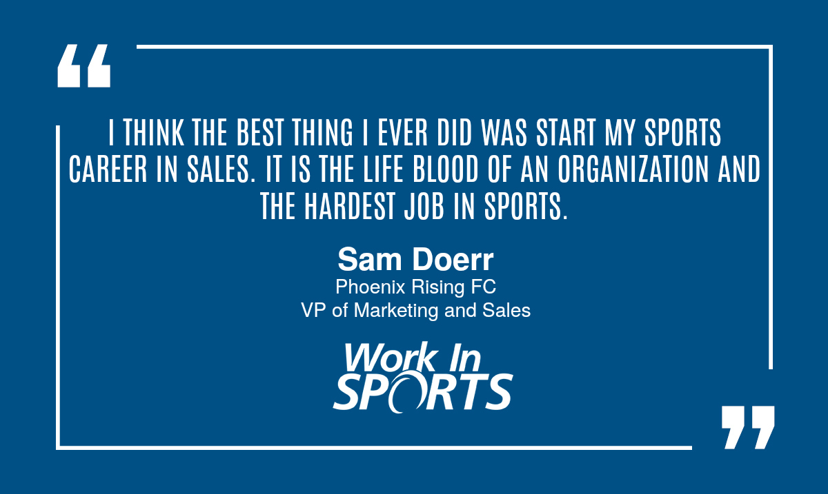 working in sports sales