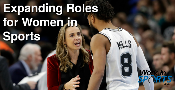 expanding roles of women in sports